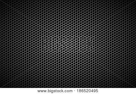 Geometric polygons background abstract black metallic wallpaper vector illustration