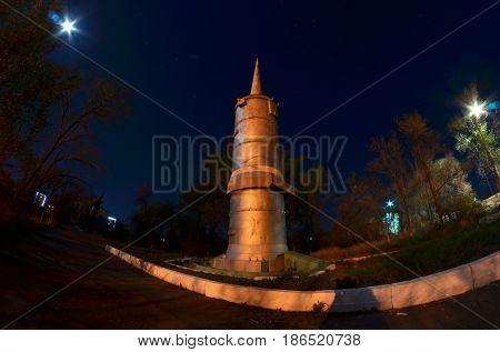 Museum of former Soviet  anti-ballistic missile testing range Sary Shagan.May 6, 2017.Priozersk.Kazakhstan