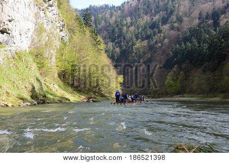 rafting on Dunajec river, Slovakia.