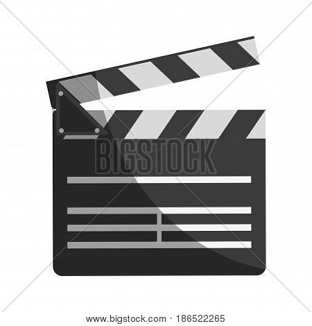 clapperboard movie icon image vector illustration design