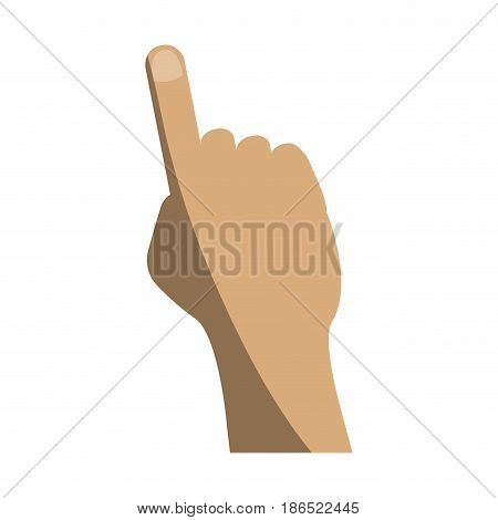 hand pointing with index finger icon image vector illustration design