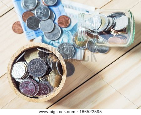 Saving money and account banking for finance business concept