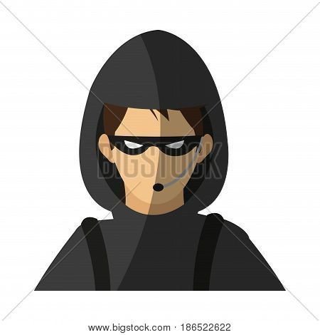 male hacker icon image vector illustration design