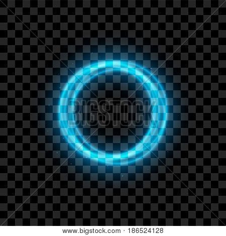 Blue illuminated Circles with Glowing in realistic Syle