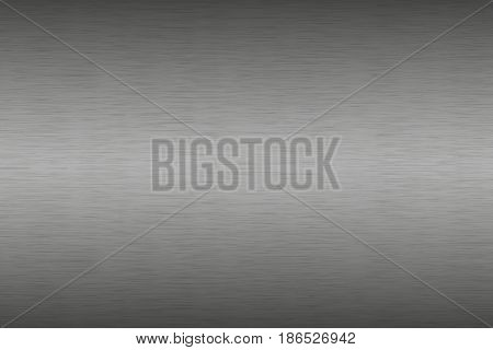 Stainless steel brushed metal background aluminum texture black-grey gradient with oblique lines abstract vector illustration