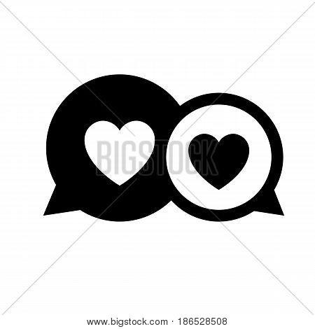 Speech bubble. Black icon isolated on white background
