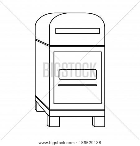 mailbox mail icon image vector illustration design  single black line