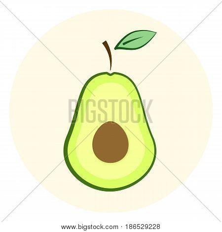 Half Avocado Icon, Avocado Split In A Half