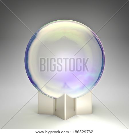 crystal ball fantasy style 3d rendering image