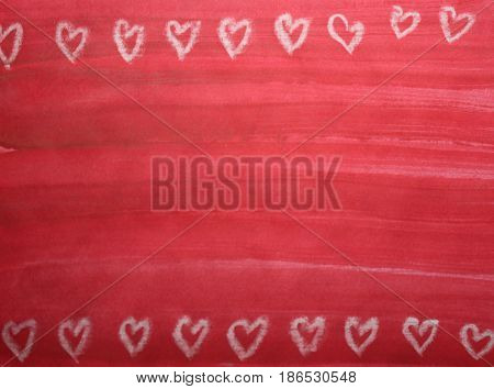 Love watercolor brush red empty background paper card surface