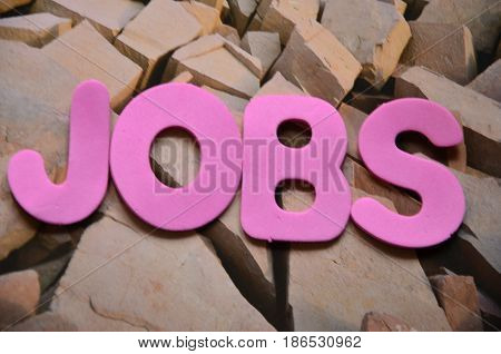word jobs on a  abstract col0orful background