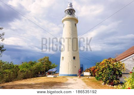Jamaica Lighthouse in Negril, on the West of the island of Jamaica.