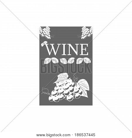 Wine label template for logo, signage on white background. Vector design