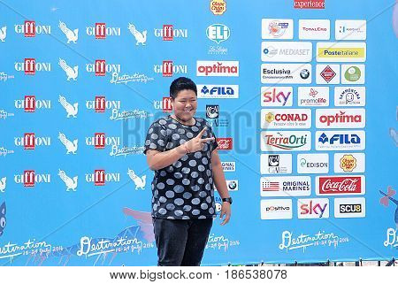 Giffoni Valle Piana Sa Italy - July 24 2016 : Daniel Lorenzo Alviar Tenorio at Giffoni Film Festival 2016 - on July 24 2016 in Giffoni Valle Piana Italy