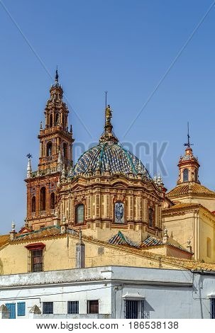 San Pedro Church was constructed in the 15th century in Carmona Spain