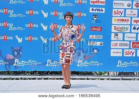 Giffoni Valle Piana Sa Italy - July 24 2016 : Denise Tantucci at Giffoni Film Festival 2016 - on July 24 2016 in Giffoni Valle Piana Italy