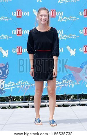 Giffoni Valle Piana Sa Italy - July 24 2016 : Maria Melandri at Giffoni Film Festival 2016 - on July 24 2016 in Giffoni Valle Piana Italy