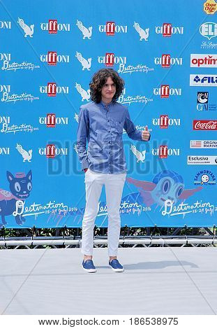 Giffoni Valle Piana Sa Italy - July 24 2016 : Nicolo' Bertonelli at Giffoni Film Festival 2016 - on July 24 2016 in Giffoni Valle Piana Italy