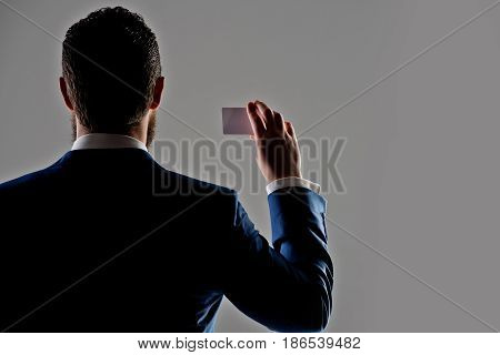 Business Ethics, Shady Business, Finance, Card In Hand Of Man