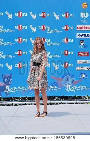 Giffoni Valle Piana Sa Italy - July 24 2016 : Silvia Mazzieri at Giffoni Film Festival 2016 - on July 24 2016 in Giffoni Valle Piana Italy