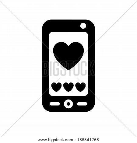 smartphone. Black icon isolated on white background