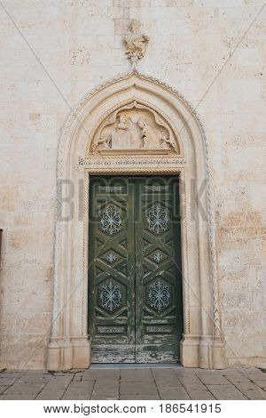 Mother church of Noci. Puglia. Southern Italy.