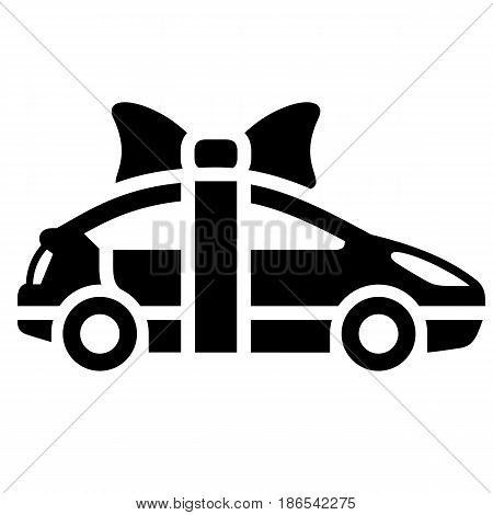 car. Black icon isolated on white background
