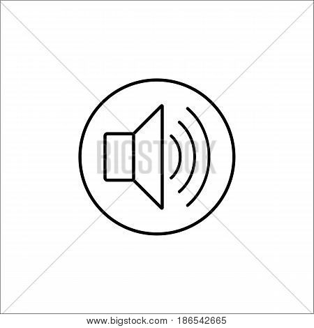 Sound mode line icon, mobile sign and loud, vector graphics, a linear pattern on a white background, eps 10.