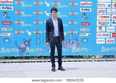 Giffoni Valle Piana Sa Italy - July 24 2016 : Carmine Buschini at Giffoni Film Festival 2016 - on July 24 2016 in Giffoni Valle Piana Italy