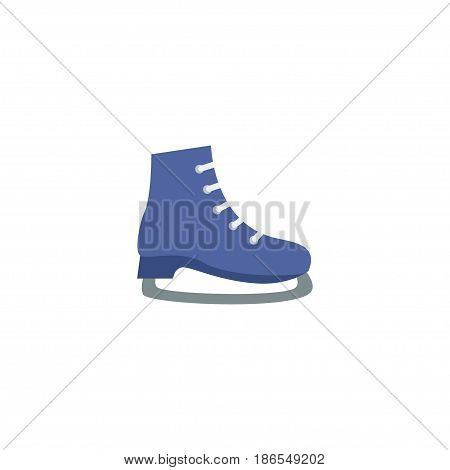 Flat Skates Element. Vector Illustration Of Flat Ice  Isolated On Clean Background. Can Be Used As Ice, Sport And Skates Symbols.