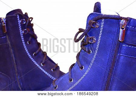 men's winter warm boots isolated on the white background