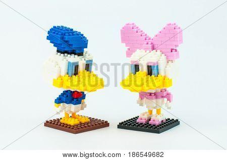 Donald And Daisy Duck Micro Blocks