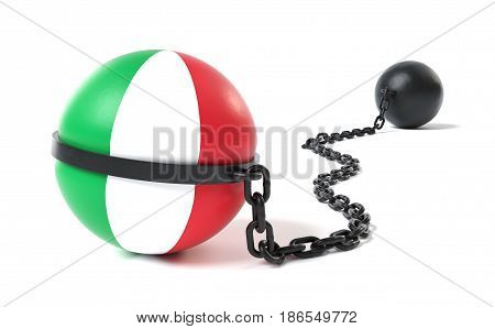 Italy hold back by a Ball and Chain restraint device