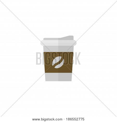 Flat Coffee Element. Vector Illustration Of Flat Break  Isolated On Clean Background. Can Be Used As Coffee, Break And Drink Symbols.