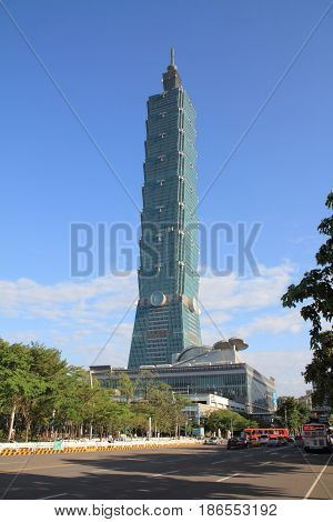 Taipei 101, High Rise Building In Taipei, Taiwan