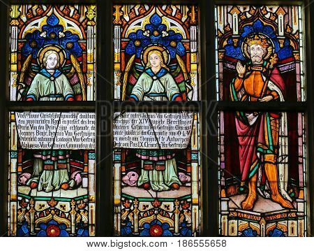Stained Glass - Angels And Saint Alphons