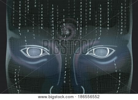 Artificial Intelligence Wallpaper. Technology Concept Illustration Vector