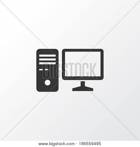PC Icon Symbol. Premium Quality Isolated Personal Computer Element In Trendy Style.
