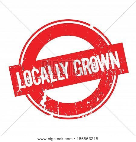 Locally Grown rubber stamp. Grunge design with dust scratches. Effects can be easily removed for a clean, crisp look. Color is easily changed.