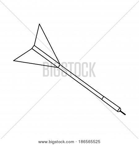 dart bullseye or target icon image vector illustration design  single black line