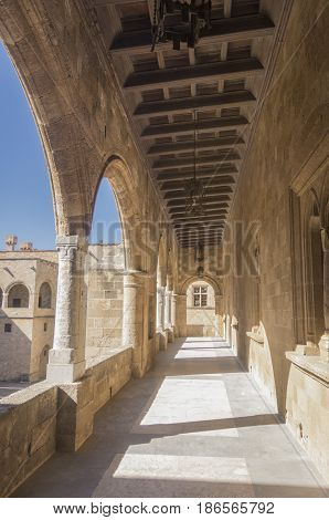 Palace of the Grand Master of the Knights of Rhodes also known as the Kastello is a medieval castle in the city of Rhodes on the island of Rhodes in Greece