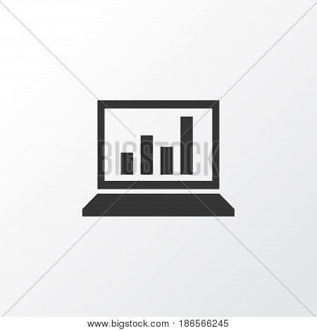 Statistics Icon Symbol. Premium Quality Isolated Diagram Element In Trendy Style.