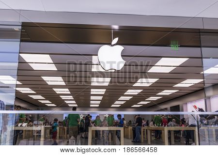Cincinnati - Circa May 2017: Apple Store Retail Mall Location. Apple sells and services iPhones iPads iMacs and Macintosh computers I
