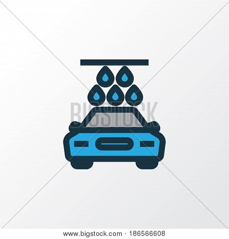 Carwash Colorful Outline Symbol. Premium Quality Isolated Washing Element In Trendy Style.