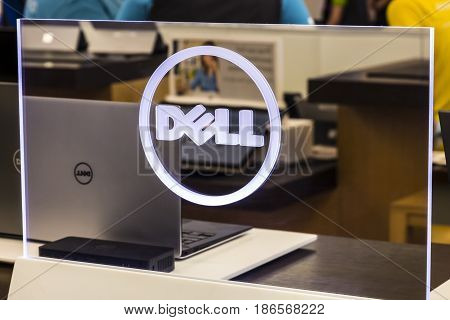 Cincinnati - Circa May 2017: Dell Technologies Display and Logo. Dell merged with the EMC Corporation in 2016 I