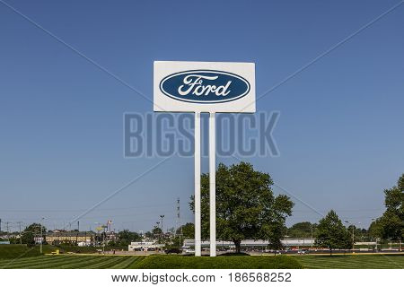 Sharonville - Circa May 2017: Ford Logo and signage at the Sharonville Transmission Plant. This plant opened in 1958 V