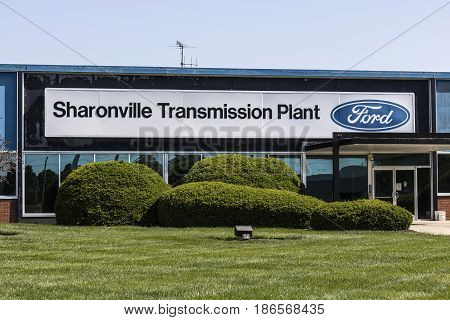 Sharonville - Circa May 2017: Ford Logo and signage at the Sharonville Transmission Plant. This plant opened in 1958 VII