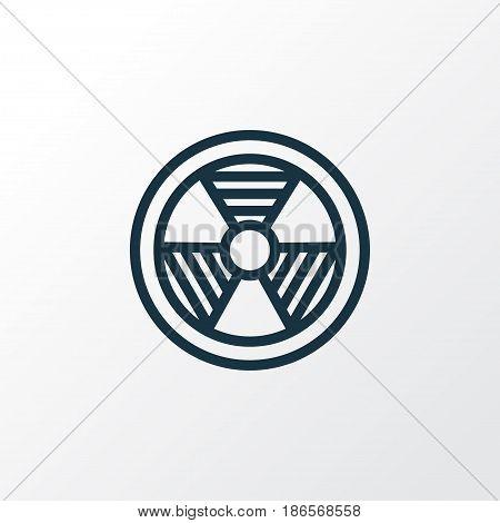 Bio Hazard Outline Symbol. Premium Quality Isolated Radiation  Element In Trendy Style.