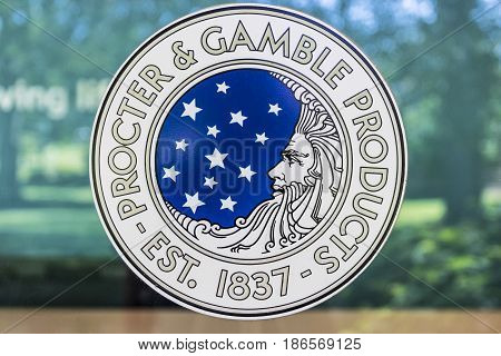 Cincinnati - Circa May 2017: Procter & Gamble Original Corporate Logo. P&G is an American Multinational Consumer Goods Company IV