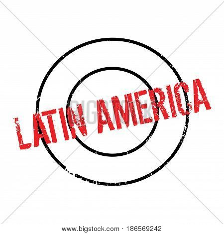 Latin America rubber stamp. Grunge design with dust scratches. Effects can be easily removed for a clean, crisp look. Color is easily changed.